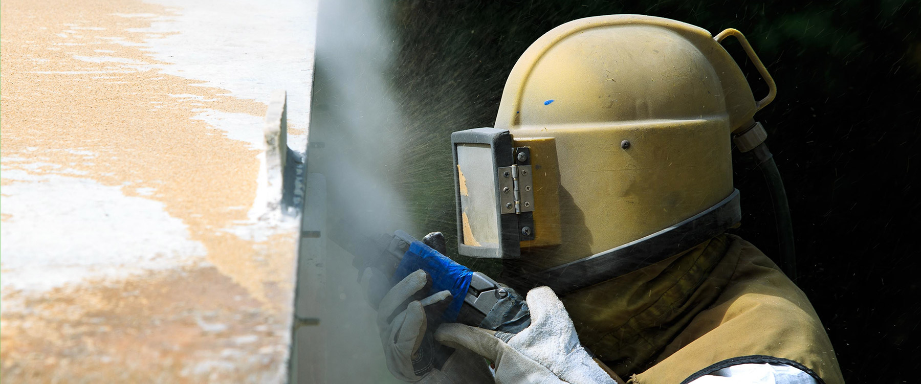 Sodablasting, sandblasting and multi media blasting